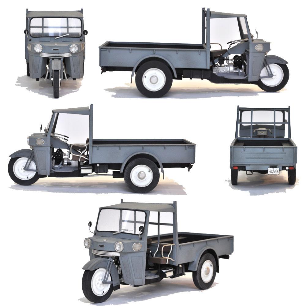 1956年式ダイハツ製オート三輪車トラック :田村ゆたか 塗装済完成品 1/12