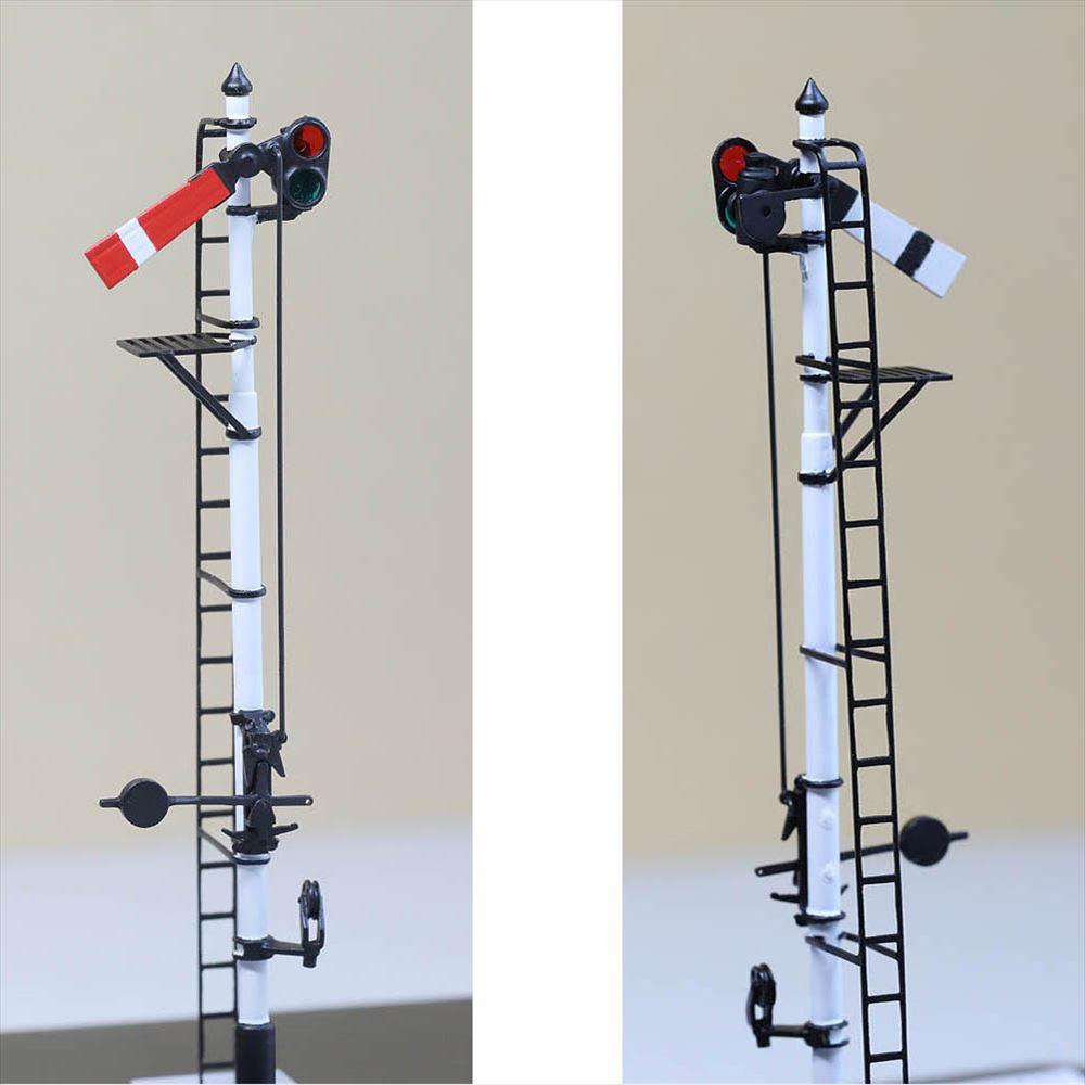 1/80 <点灯・可動式> 降雪地仕様 腕木信号機 「出発信号機 」主本線用 :工房ナナロクニ 塗装済完成品 1/80(HO) 1079
