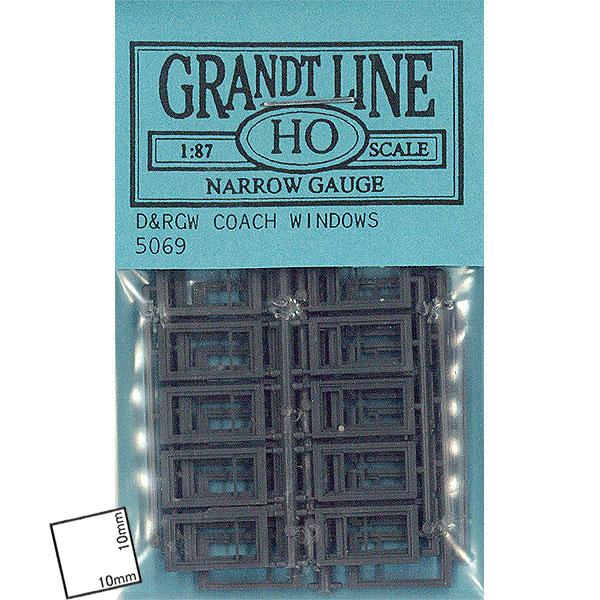 D&RGW コーチウィンドウ(COACH WINDOWS) :グラントライン 未塗装キット HO(1/87) 5069