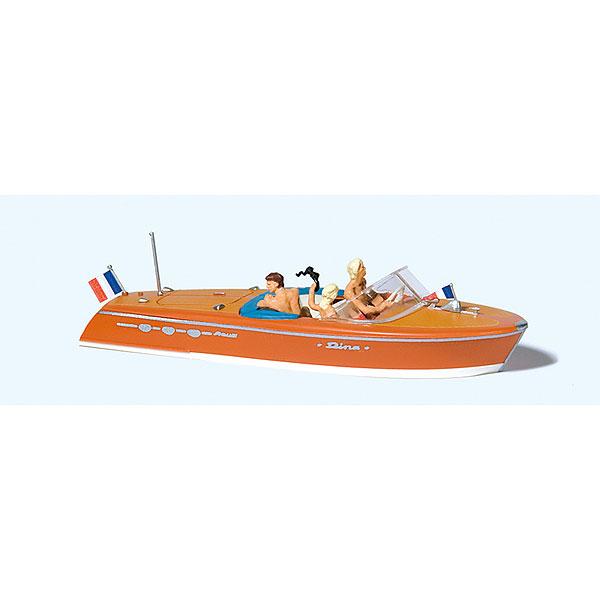 モーターボートに乗る人々(リーヴァ アリストン) :プライザー 塗装済完成品 HO(1/87) 10689