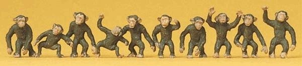 猿 10匹 :プライザー 塗装済完成品 HO(1/87) 20388