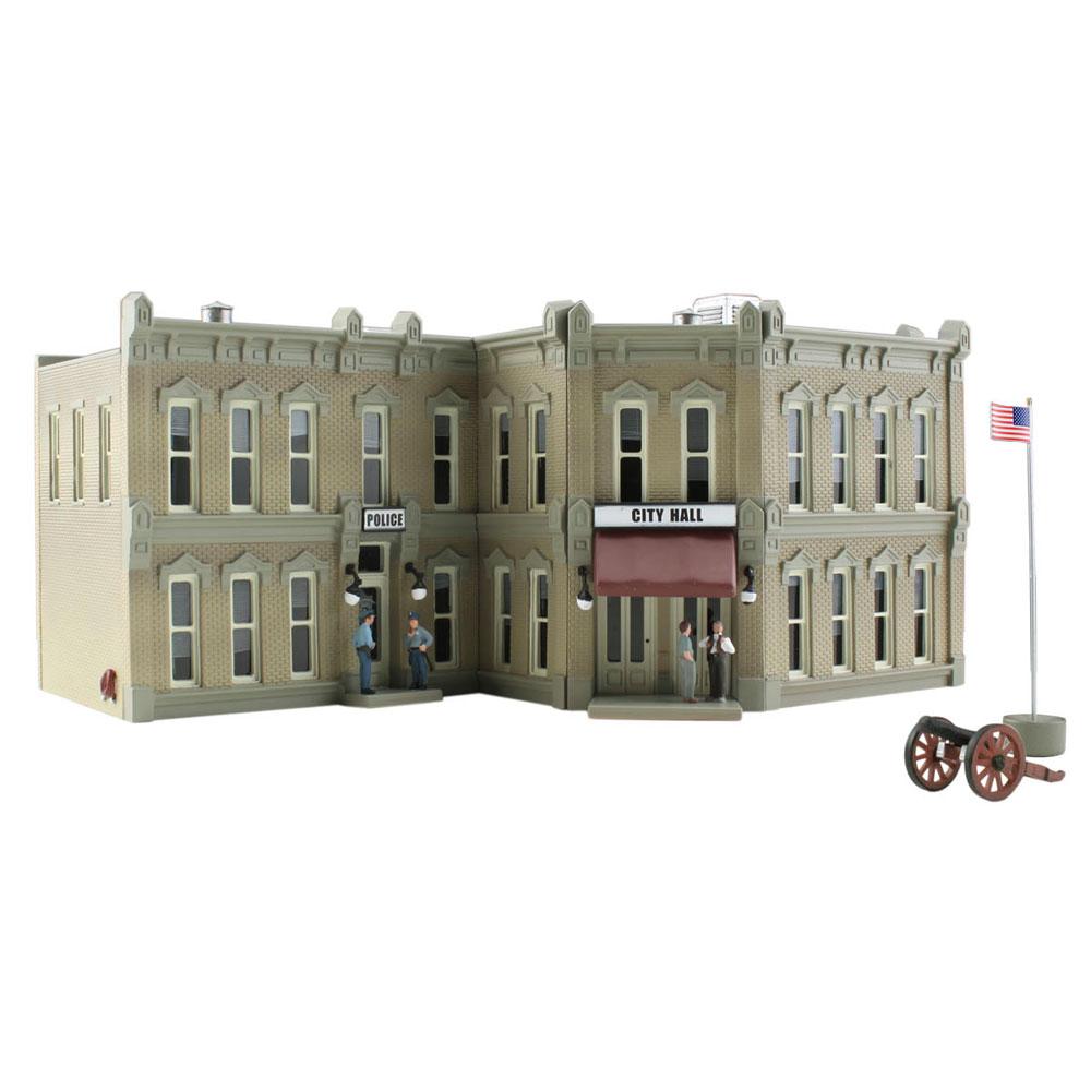 公立ビル(市役所/警察署) :ウッドランド 塗装済完成品 N(1/160) BR4930