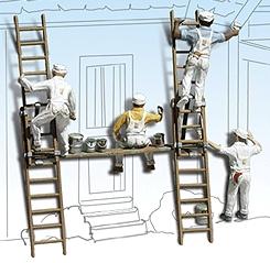 ペンキ職人 塗装屋 :ウッドランド 塗装済完成品 HO(1/87) 1890