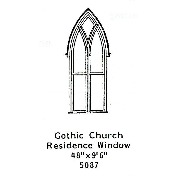 洋風窓 窓枠 ゴシック様式 :グラントライン 未塗装キット(部品) HO(1/87) 5087