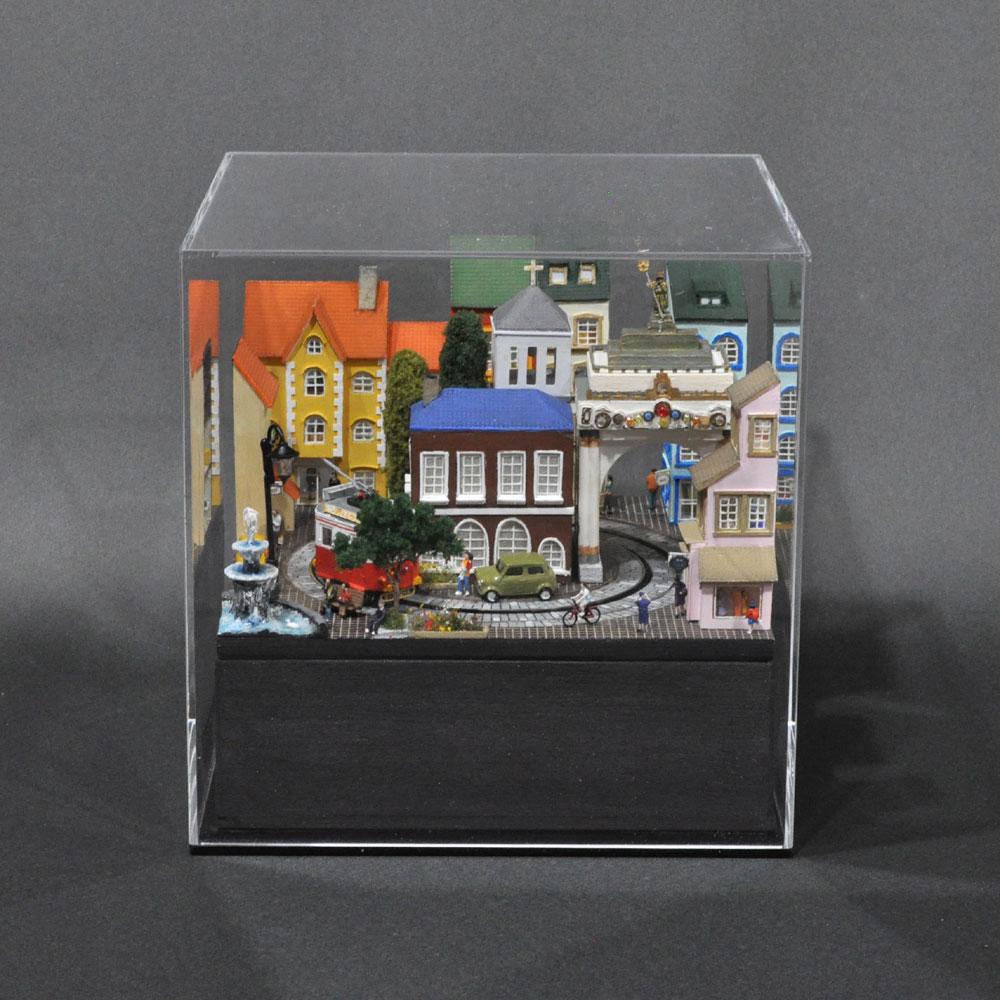 ミニミニレイアウト#1 「ヨーロッパの街角」 :石川宜明 塗装済完成品 1/150サイズ