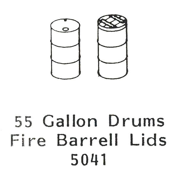 55ガロン ドラム缶 :グラントライン 未塗装キット HO(1/87) 5041