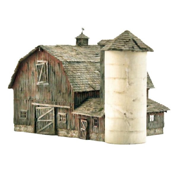 古びた納屋【LED付き】 :ウッドランド 塗装済完成品 N(1/160) BR4932