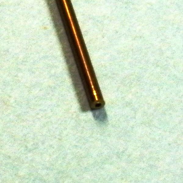 真鍮パイプ 外径0.8mm 内径0.6mm :さかつう 素材 ノンスケール 4631