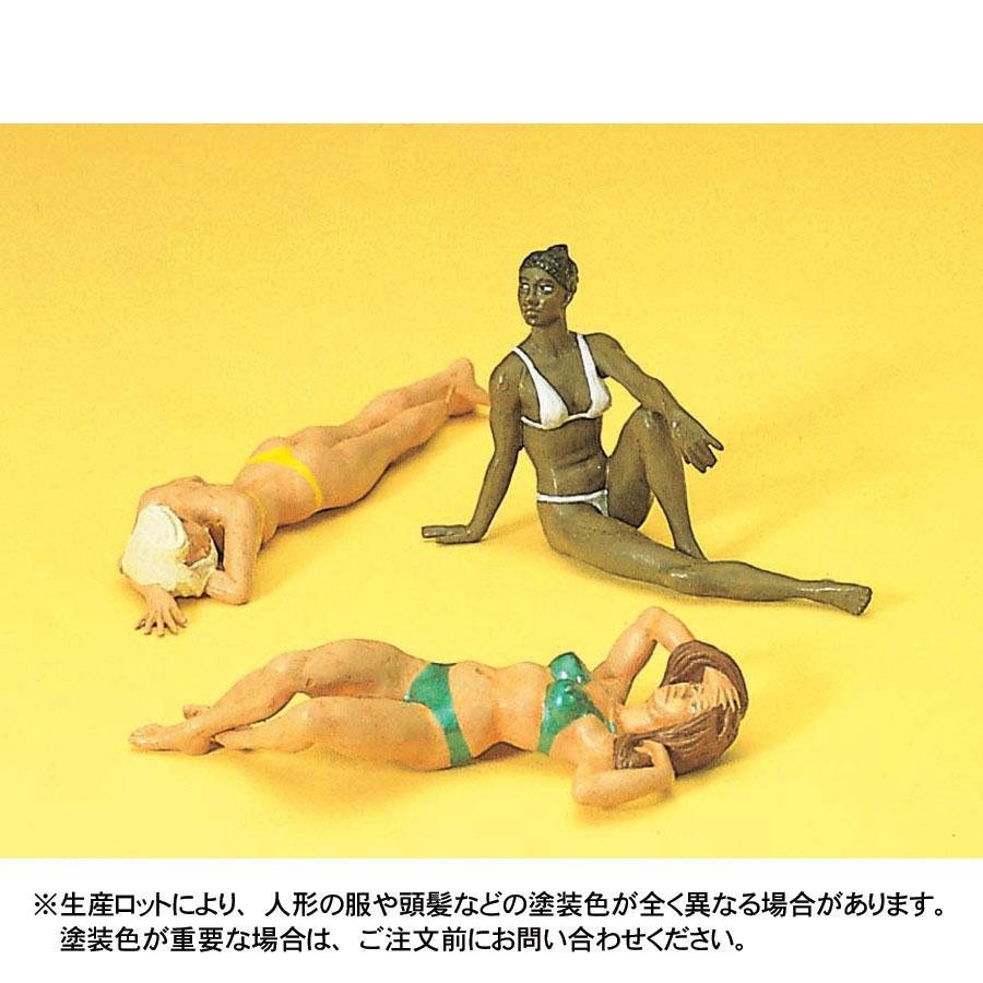 日光浴をする女性たち :プライザー 塗装済完成品 1/22.5 45011
