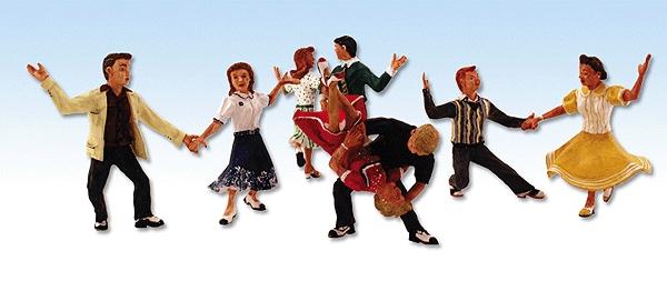 ダンスを楽しむ若者たち :ウッドランド 塗装済完成品 HO(1/87) 1950