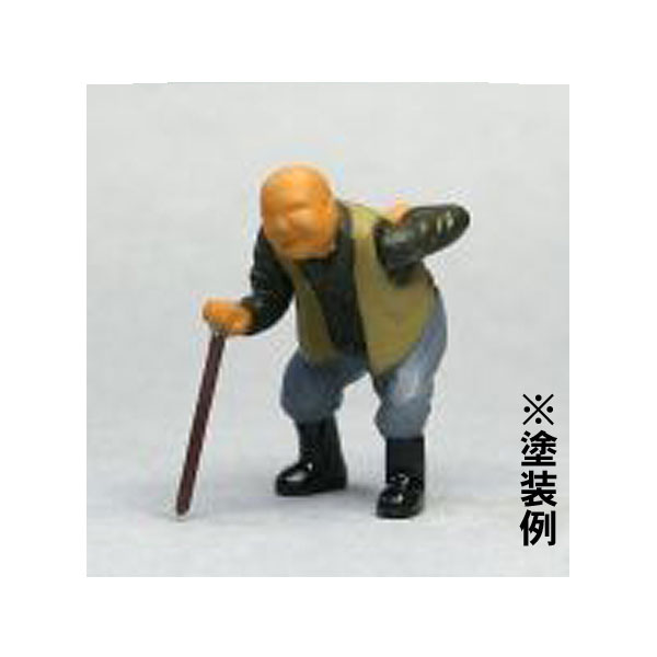 Oゲージフィギュア おじいさんA :モリタ 未塗装キット 1/45スケール  No.919