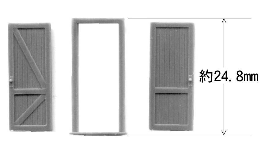 木製ドア :グラントライン 未塗装キット(部品) HO(1/87) 5131