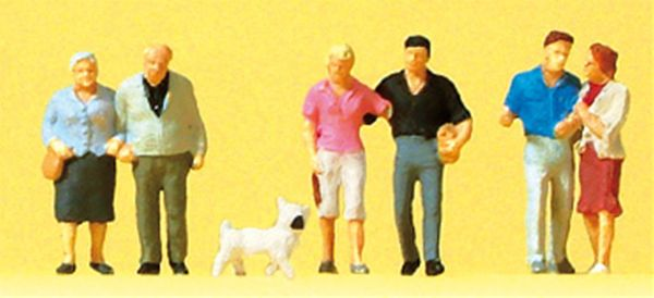 カップルと犬 :プライザー 塗装済完成品 N(1/160) 79209