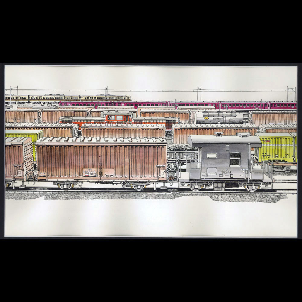 原画「吹田操車場」 :西村慶明 イラスト作品