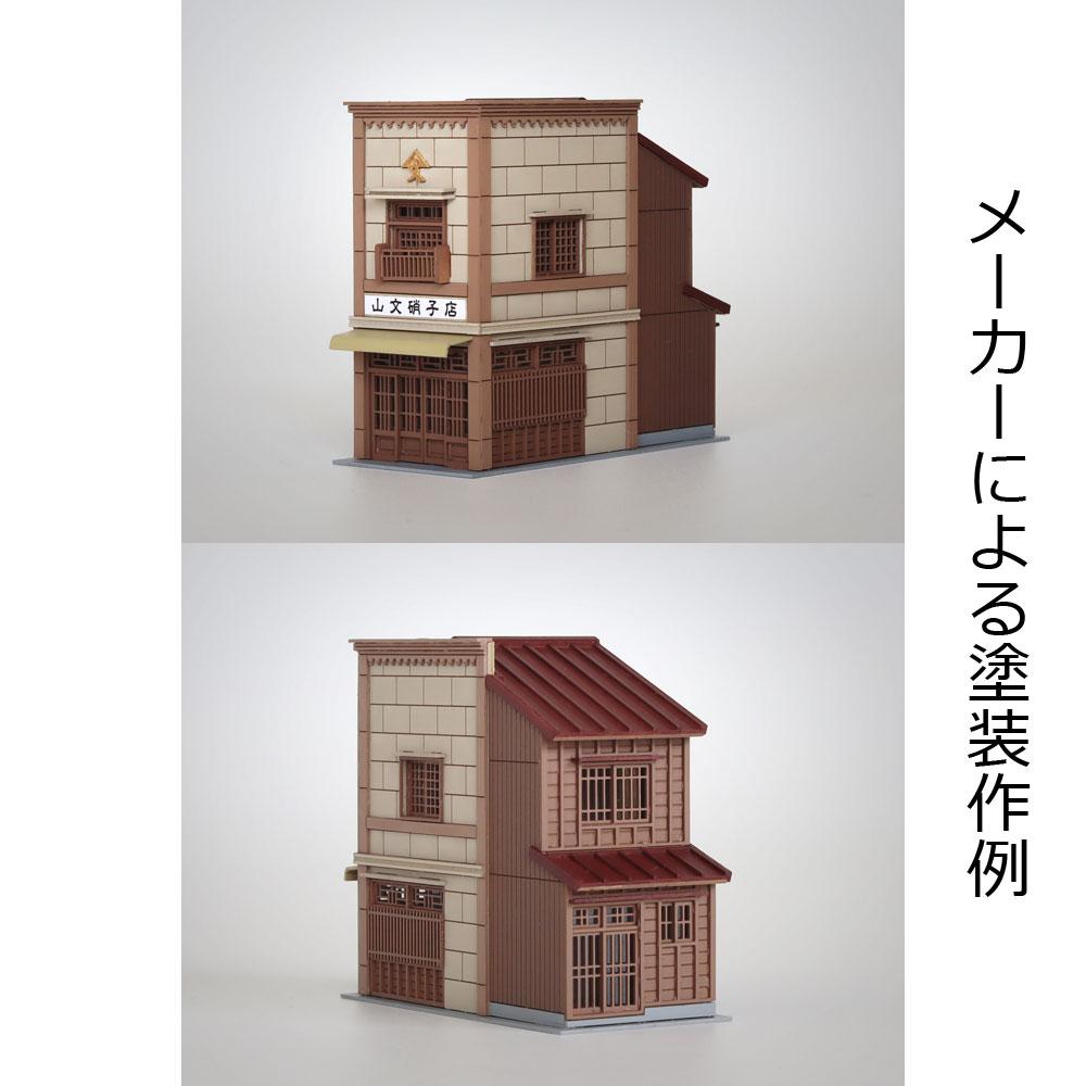 3軒続きの看板建築C :梅桜堂 N(1/150) 未塗装キット ST-005-15U