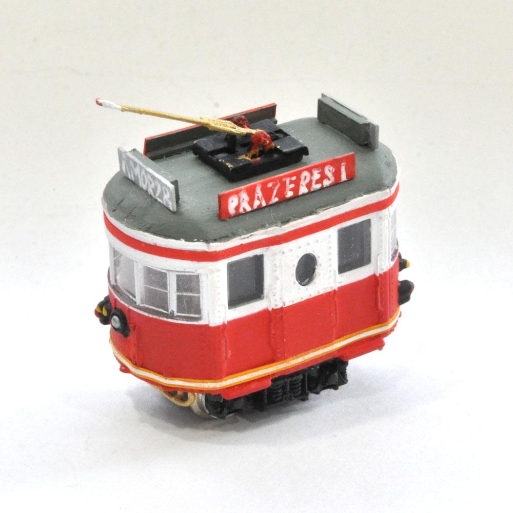 電池内蔵自走式 ミニミニトレイン <赤> ポール仕様 :石川宜明 塗装済完成品 N(1/150)
