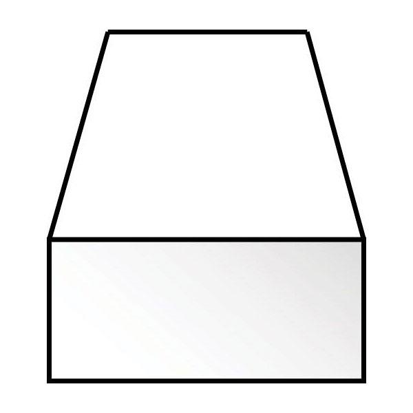 角棒 1.0 x 2.0 x 350 mm :エバーグリーン プラ材 ノンスケール 144