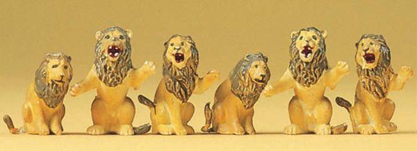 ライオン 6頭 :プライザー 塗装済完成品 HO(1/87) 20381