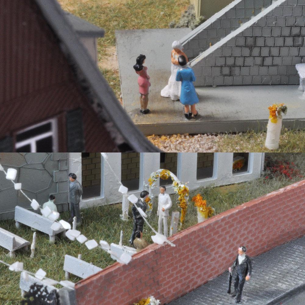 田舎の結婚式 :ライオン模型 藤平翔 塗装済完成品 1/150サイズ