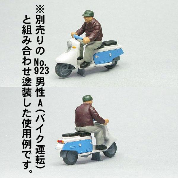 Oゲージフィギュア スクーターA :モリタ 未塗装キット 1/45スケール  No.921