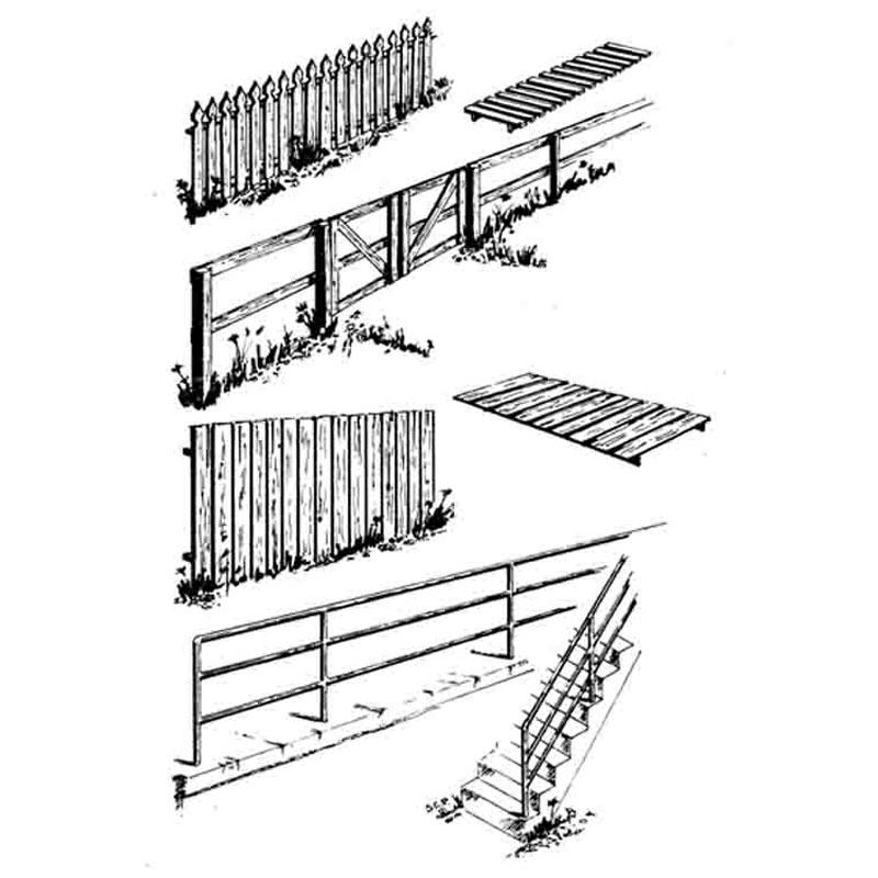 柵(フェンス) :セントラルバレー 未塗装キット HO(1/87) 1601