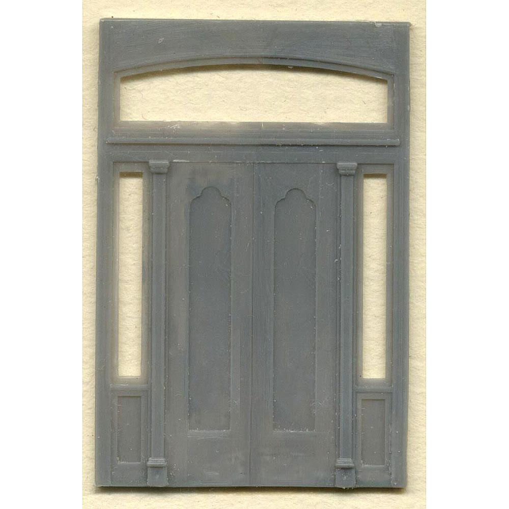 木製ドア 両開き戸玄関 :グラントライン 未塗装キット(部品) HO(1/87) 5149