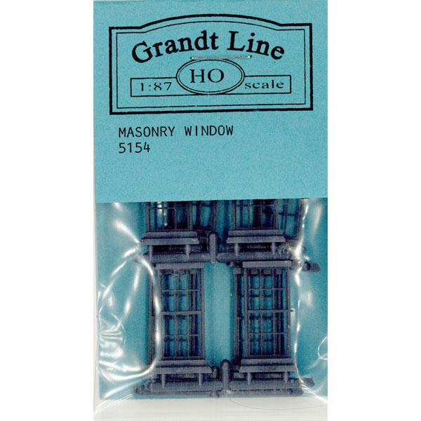 洋風窓 窓枠 石積み:グラントライン 未塗装キット(部品) HO(1/87) 5154