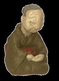 さかつう人形シリーズまなべコレクション 居眠りおばあちゃん :さかつう 塗装済完成品 HO(1/87) 7502