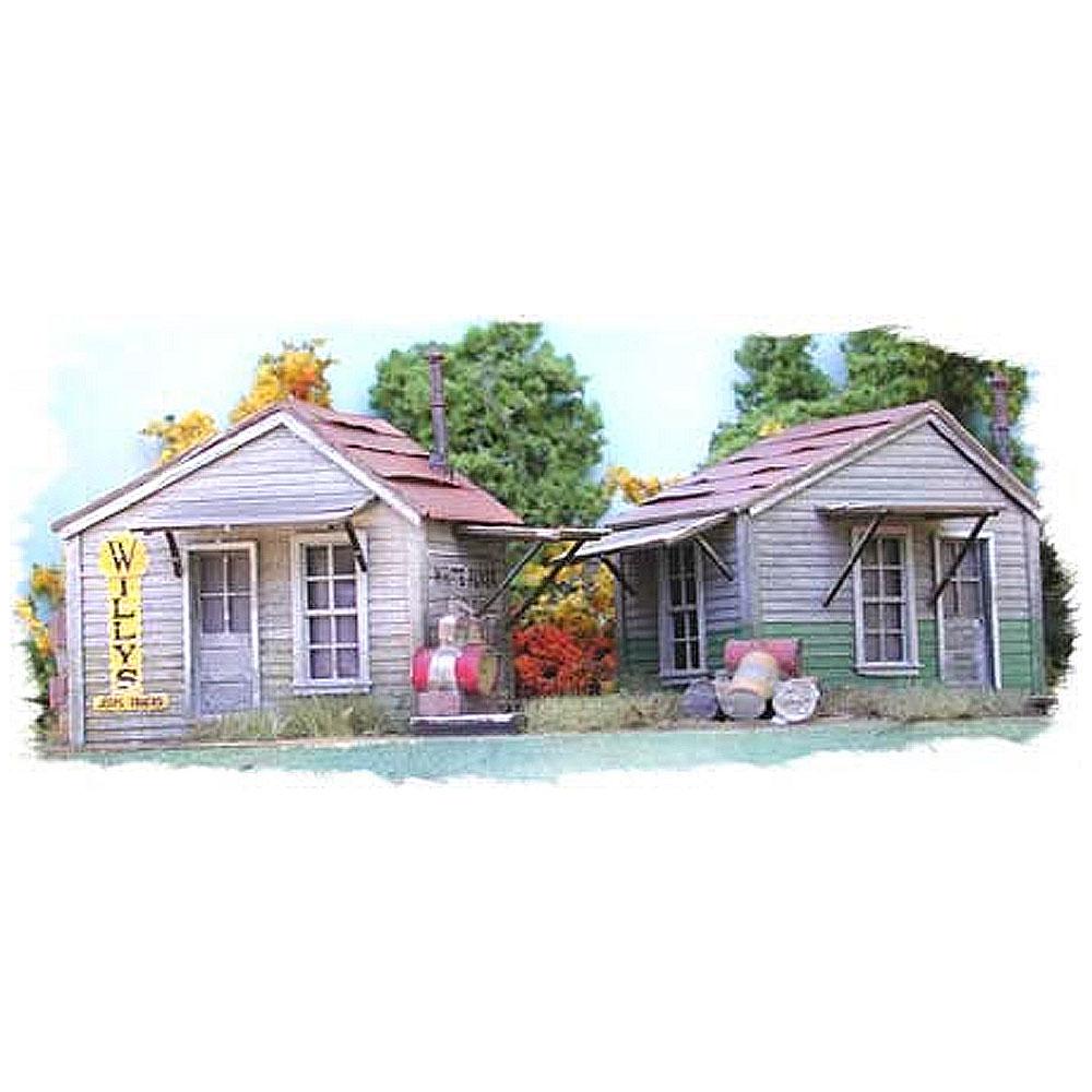 二軒の小屋 :バーミルズ 未塗装キット HO(1/87) 702