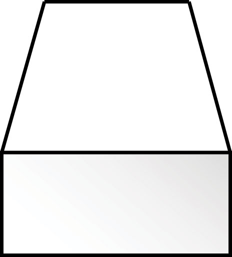 角棒 0.5 x 0.75 x 350 mm :エバーグリーン プラ材 ノンスケール 121