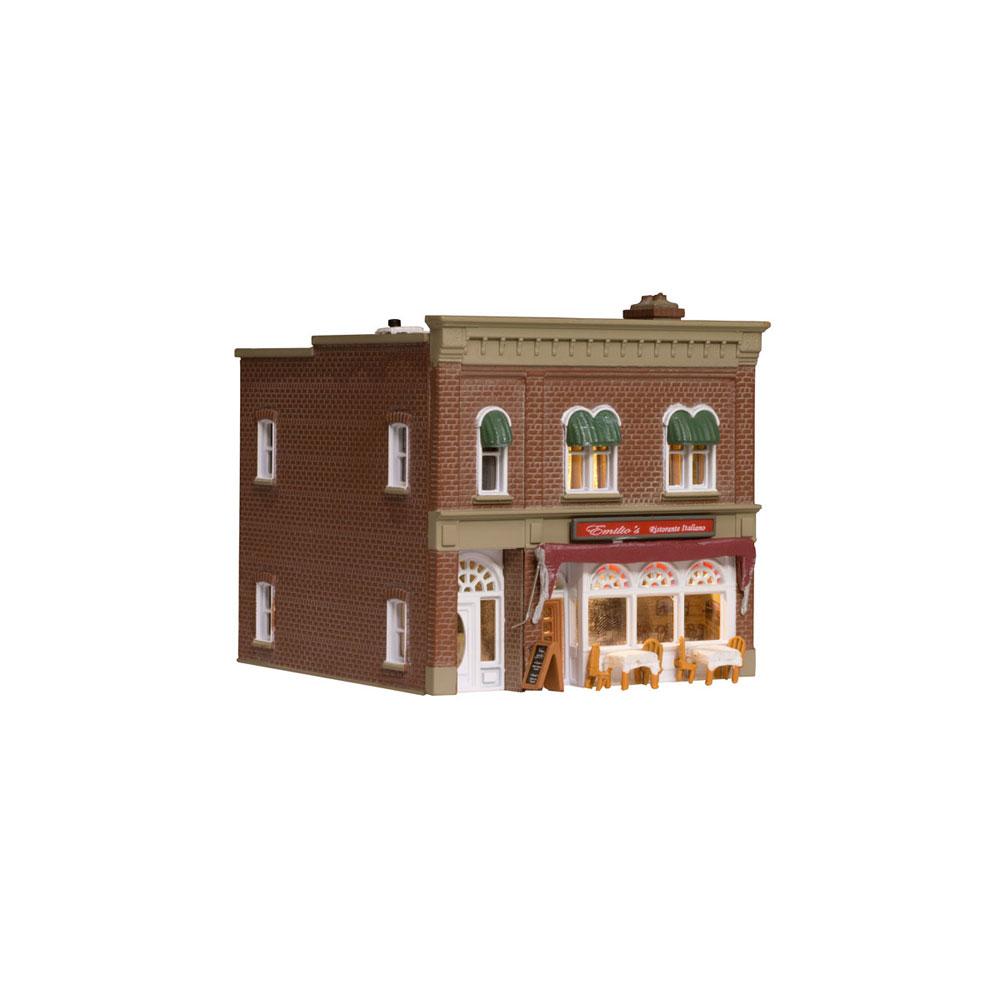 イタリアンレストラン【LED付き】 :ウッドランド 塗装済完成品 N(1/160) BR4945