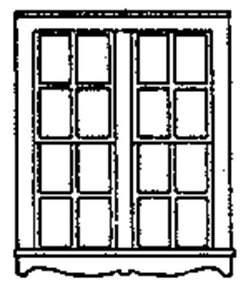窓 19 x 23mm  :グラントライン 未塗装キット HO(1/87) 5160
