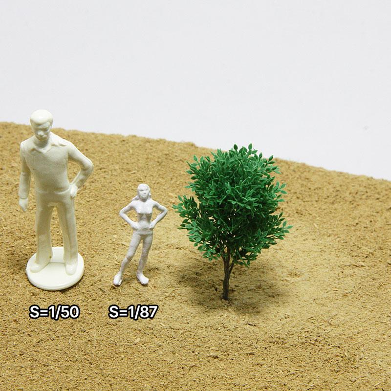 リアルミニチュア樹木模型 広葉枝葉 :ビーズ・デザイン 素材 ノンスケール RMF01