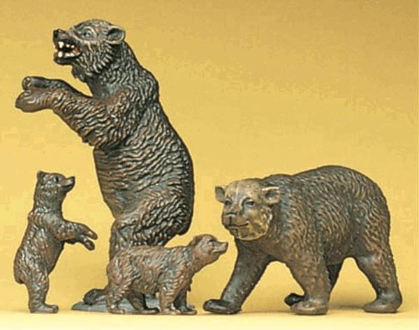 熊 4頭 :プライザー 塗装済完成品 HO(1/87) 20386