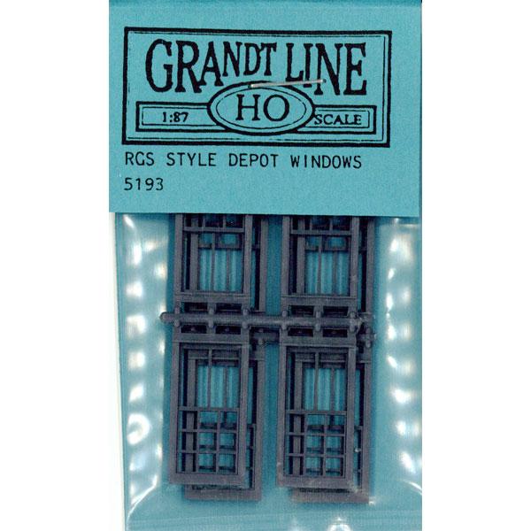 洋風窓 窓枠 RGSスタイル:グラントライン 未塗装キット(部品) HO(1/87) 5193
