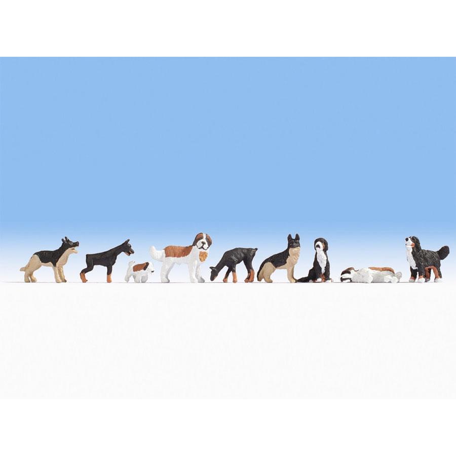 犬 9匹入り :ノッホ 塗装済完成品 N(1/160) 36717