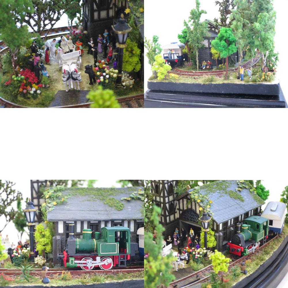ダイソーケースレイアウト#4 「結婚式 軽井沢」 :石川宜明 塗装済完成品 1/150サイズ