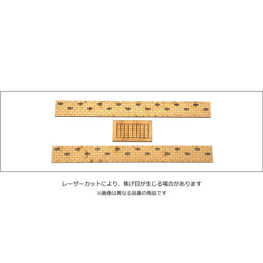 万年塀 穴ありキット 2個入り :ポポプロ 未塗装キット HO(1/80) MS-110