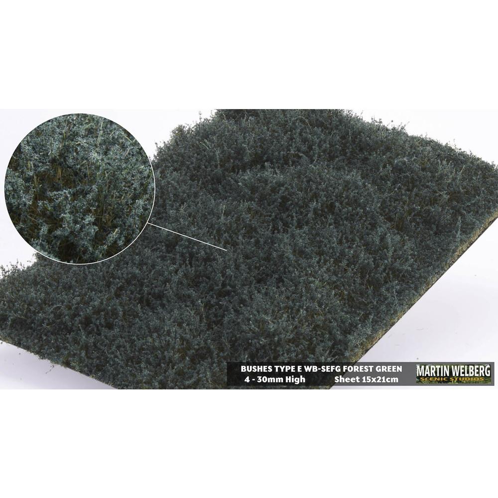 茂みE 草むらタイプ 全高20mm フォレストグリーン :マルティン・ウエルベルク ノンスケール WB-SEFG