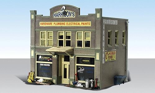 ハリソン金物店【LED付き】 :ウッドランド 塗装済完成品 HO(1/87) 5022