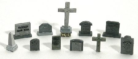 墓石 :ウッドランド 塗装済完成品 HO(1/87) 1856