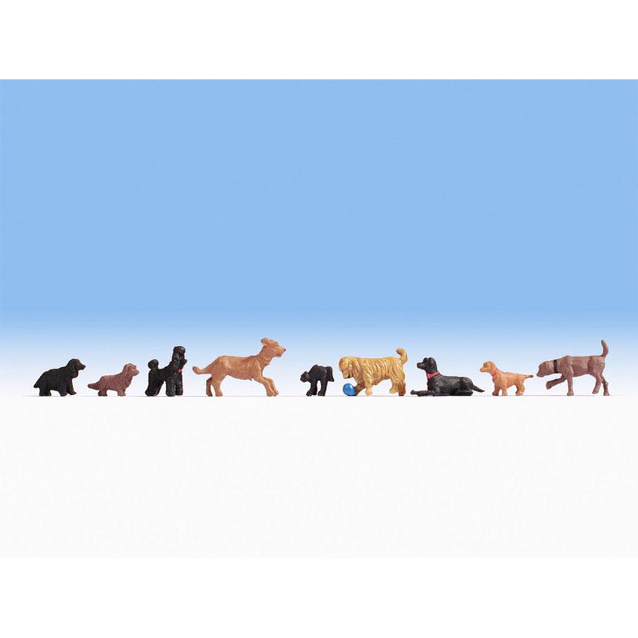 犬 9匹 :ノッホ 塗装済完成品 HO(1/87) 15719