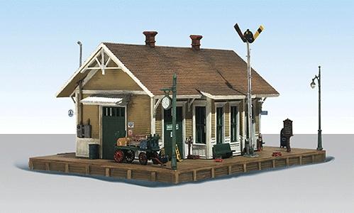 ダンバリー貨物駅【LED付き】 :ウッドランド 塗装済完成品 HO(1/87) BR5023