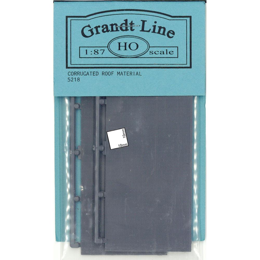 屋根用波板 :グラントライン 未塗装キット(部品) HO(1/87) 5218