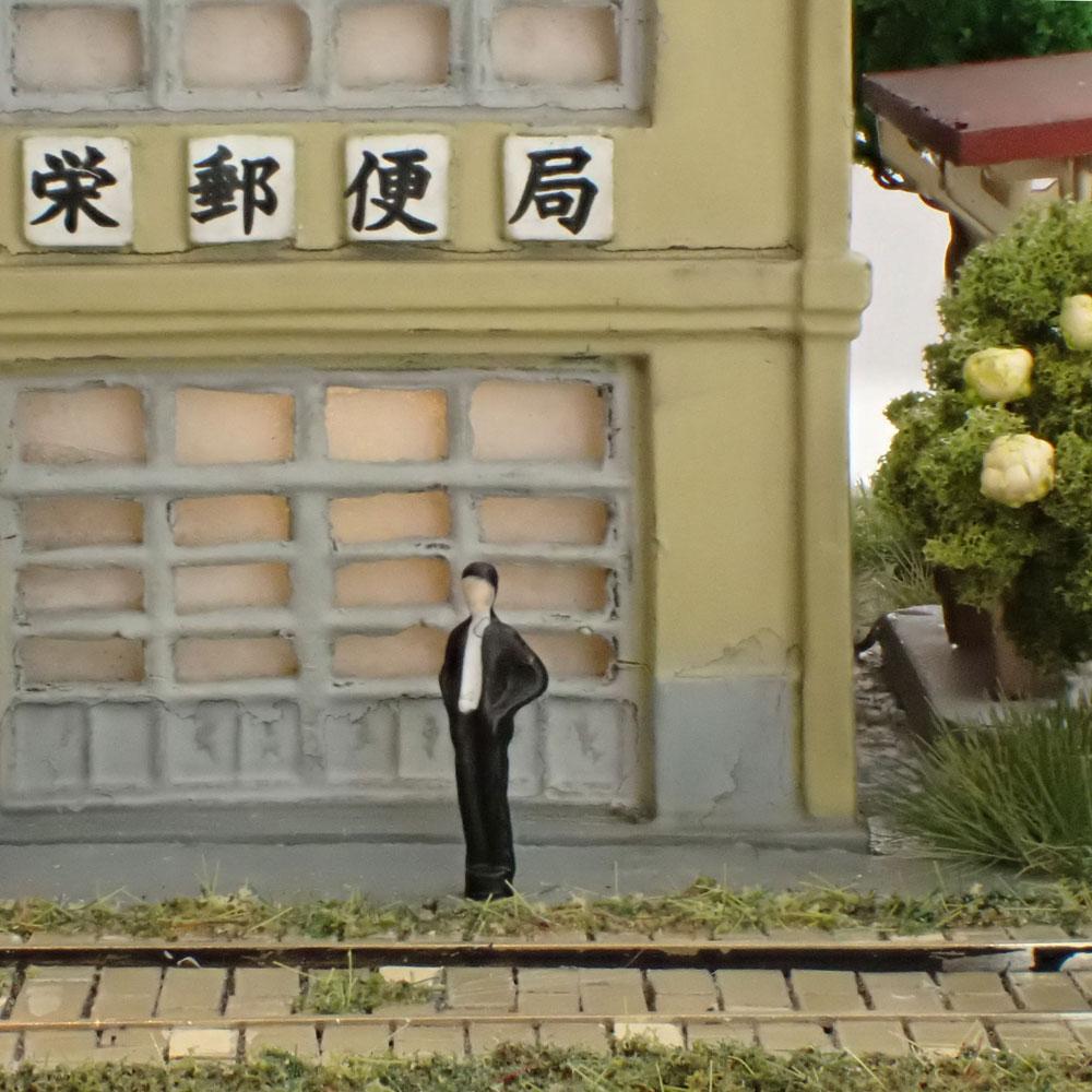 昭和下町栄通り A(栄郵便局前) :石川宜明 塗装済完成品 1/150サイズ