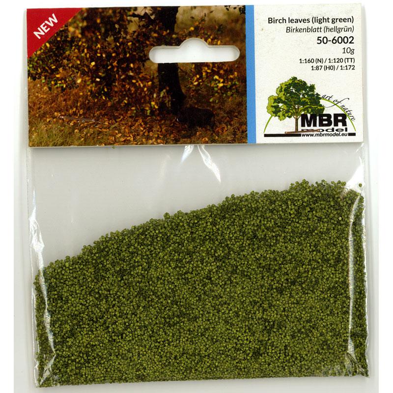パウダー系素材 白樺の葉(薄緑) :MBR 素材 ノンスケール 50-6002