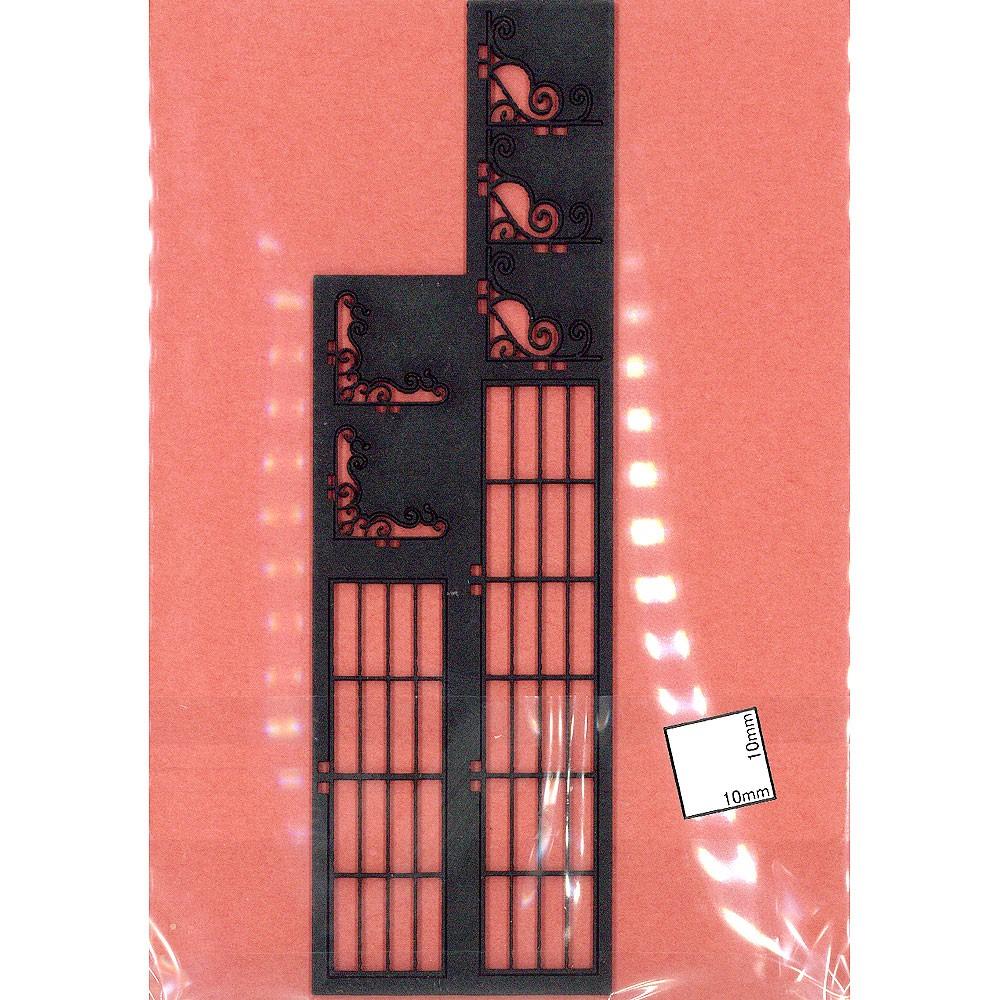 アイアン棚セット 2ヶ入り :コバーニ 未塗装キット 1/24 ss-006