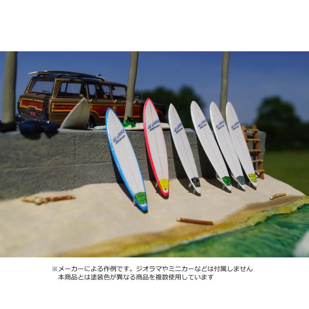 【模型】 44.サーフボードL C-青 ロング・ガンボードセット 2枚入 :グリーンアート 塗装済完成品 1/43 2006-LCB