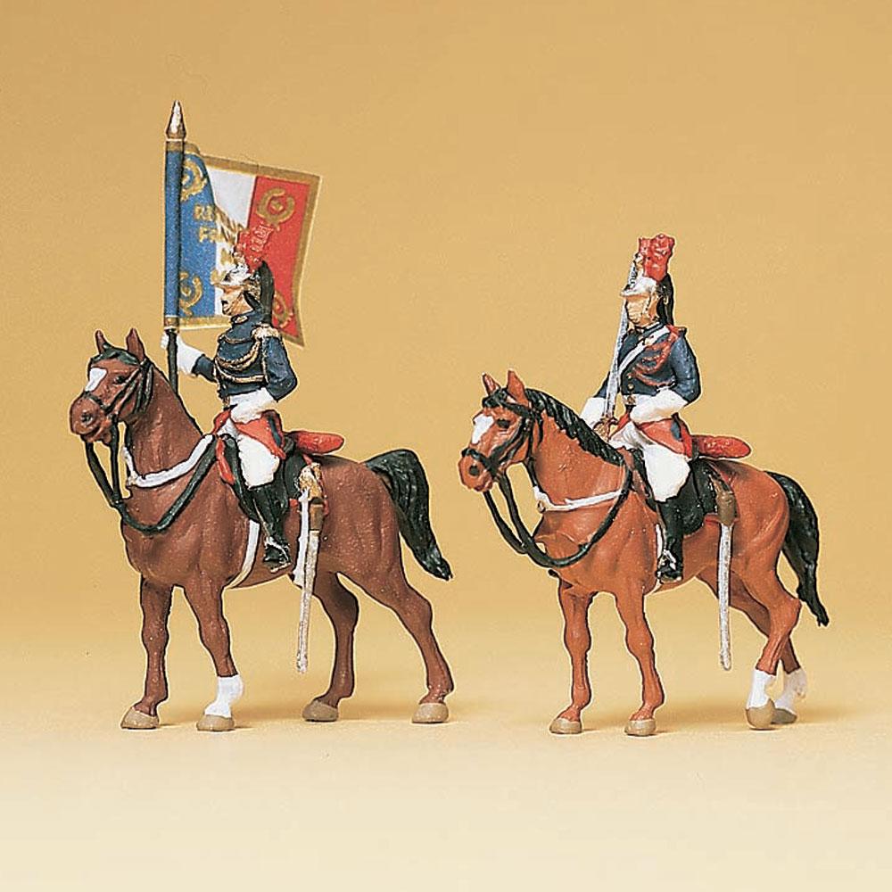 騎乗したギャルド・レピュブリケーヌ(フランス国家憲兵隊) 騎馬警官 旗手 :プライザー 塗装済完成品 HO(1/87) 10460