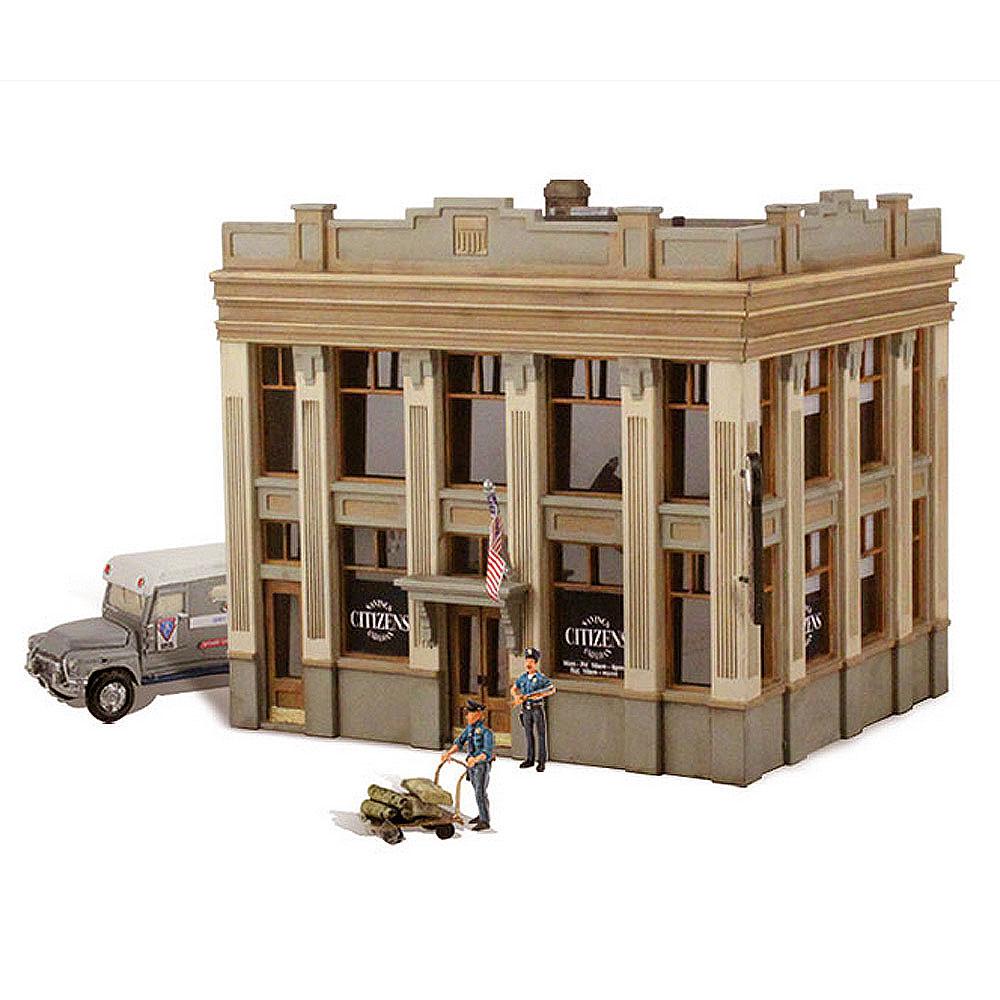 銀行 現金輸送車と警備員付き【LED付き】 :ウッドランド 塗装済完成品 HO(1/87) BR5033